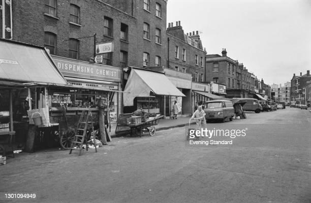 Hoxton Street Market in London, UK, 24th July 1973.