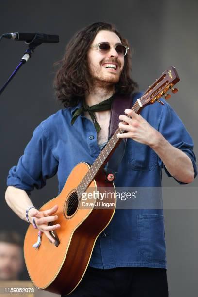 Hozier during day four of Glastonbury Festival at Worthy Farm Pilton on June 29 2019 in Glastonbury England
