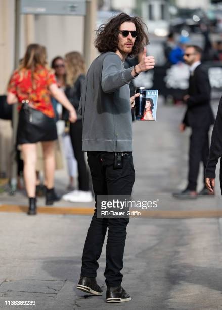 Hozier is seen at 'Jimmy Kimmel Live' on April 11 2019 in Los Angeles California