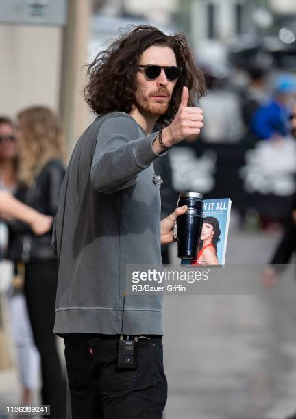 Hozier is seen at 'Jimmy Kimmel Live' on April 11, 2019 in Los Angeles, California.