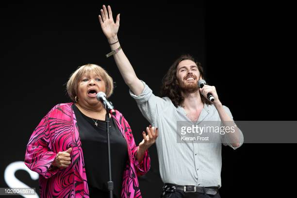 Hozier joins Mavis Staples during Electric Picnic 2018 at Stradbally Hall Estate on September 1, 2018 in Dublin, Ireland.