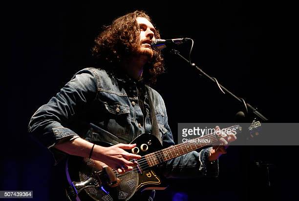 Hozier performs at Brixton Academy on January 29 2016 in London England