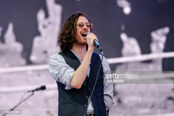 Hozier performs at the Bonnaroo Music Arts Festival on June 15 2019 in Manchester Tennessee