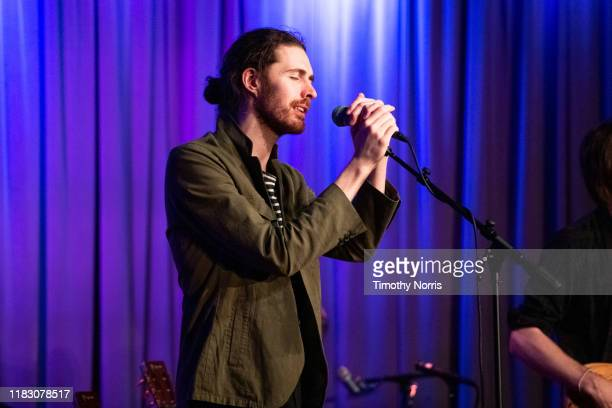 Hozier performs at The GRAMMY Museum on October 23 2019 in Los Angeles California