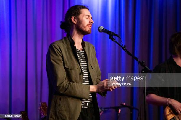 Hozier performs at The GRAMMY Museum on October 23, 2019 in Los Angeles, California.