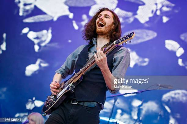 Hozier performs at the Osheaga Music and Art Festival at Parc JeanDrapeau on August 04 2019 in Montreal Canada