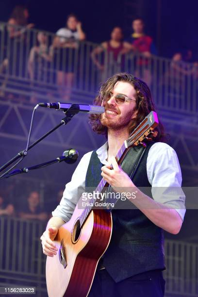 Hozier performs during 2019 Bonnaroo Music Arts Festival on June 15 2019 in Manchester Tennessee