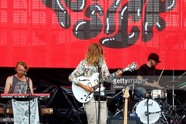Hozier performs during a concert as part of Corona Capital Festival day 2 at Hermanos Rodriguez Racetrack on October 12 2014 in Mexico City Mexico