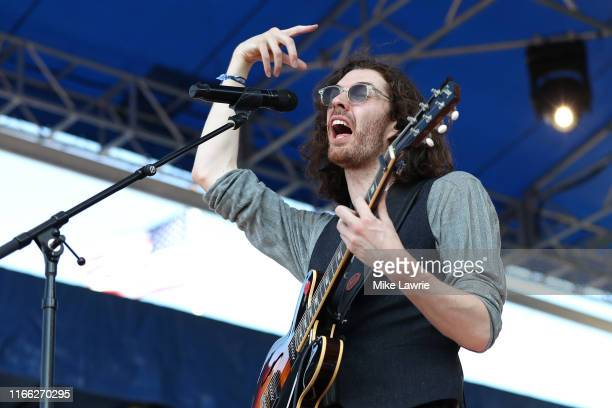 Hozier performs during day three of the 2019 Newport Folk Festival at Fort Adams State Park on July 28, 2019 in Newport, Rhode Island.