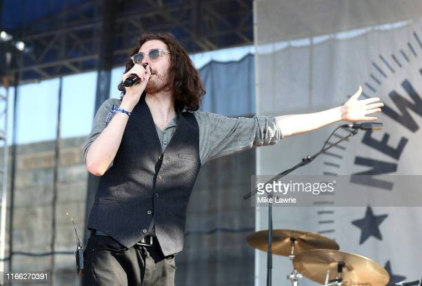 Hozier performs during day three of the 2019 Newport Folk Festival at Fort Adams State Park on July 28 2019 in Newport Rhode Island
