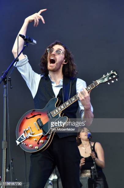 Hozier performs during the 2019 Bonnaroo Music Arts Festival on June 15 2019 in Manchester Tennessee