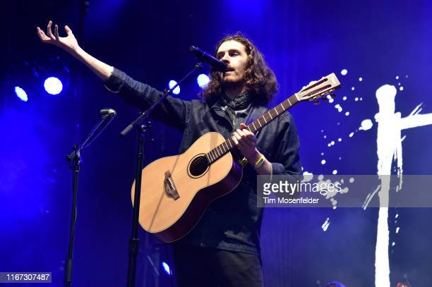 Hozier performs during the 2019 Outside Lands festival at Golden Gate Park on August 10 2019 in San Francisco California