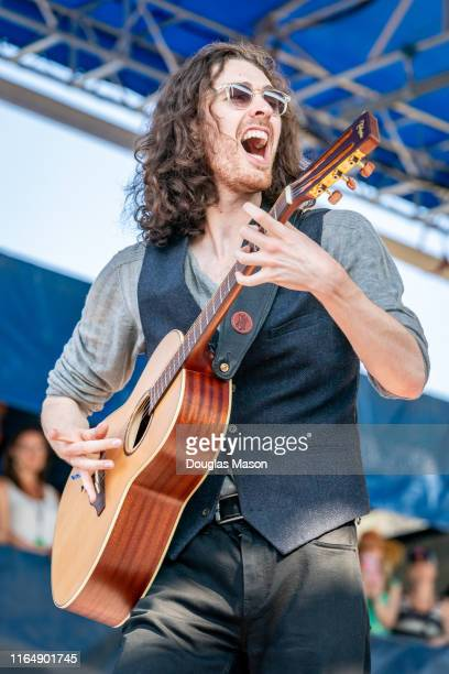 Hozier performs during the 60th annual Newport Folk Festival 2019 at Fort Adams State Park on July 28 2019 in Newport Rhode Island