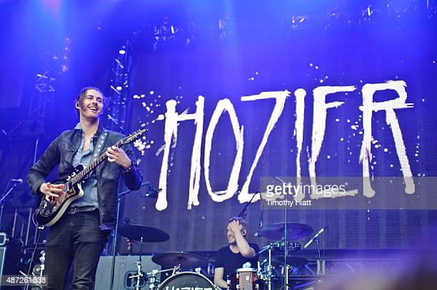Hozier performs on day 3 of the Bumbershoot Festival at Seattle Center on September 7 2015 in Seattle Washington