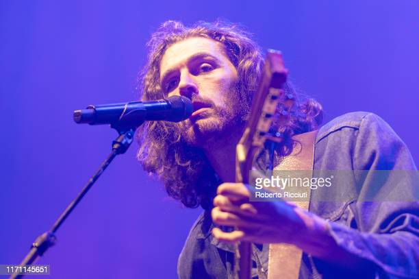 Hozier performs on stage at Usher Hall on September 25 2019 in Edinburgh Scotland