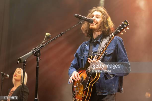 Hozier performs on stage at Usher Hall on September 25, 2019 in Edinburgh, Scotland.