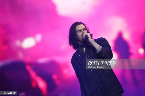Hozier performs on stage during Electric Picnic Music Festival 2019 at Stradbally Hall Estate on August 30 2019 in Stradbally Ireland