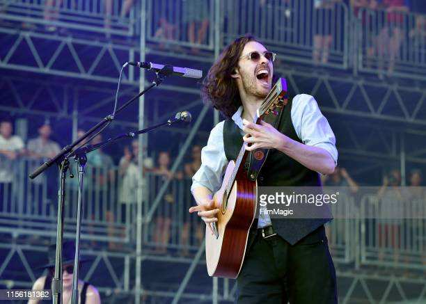 Hozier performs on What Stage during the 2019 Bonnaroo Arts And Music Festival on June 15 2019 in Manchester Tennessee