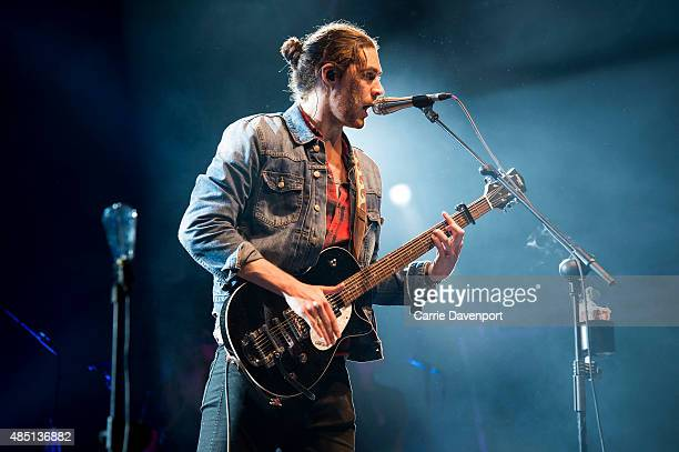 Hozier performs onstage during Belsonic 2015 at Custom House Square on August 24 2015 in Belfast Northern Ireland