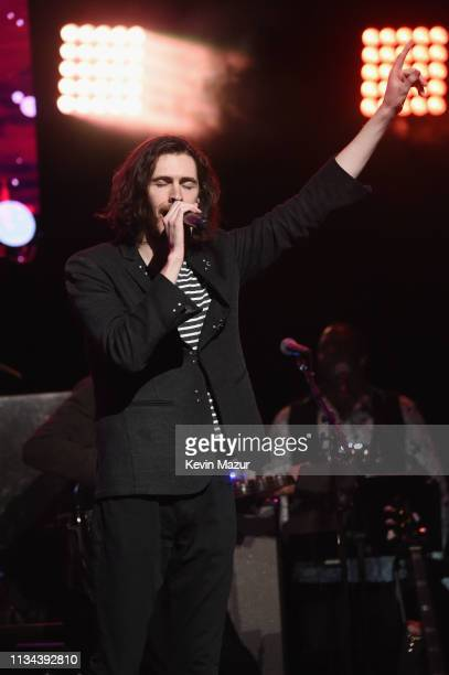Hozier performs onstage during the Third Annual Love Rocks NYC Benefit Concert for God's Love We Deliver on March 07 2019 in New York City
