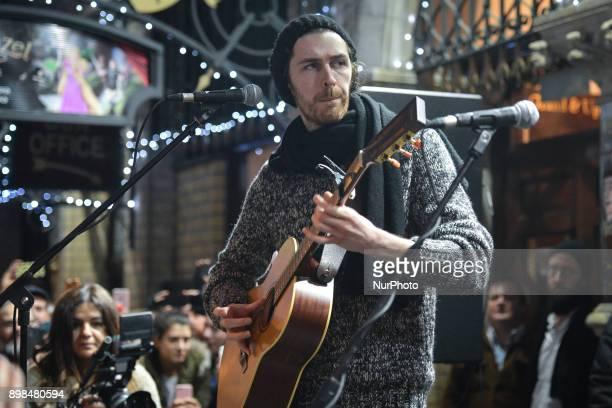 Hozier takes part in the annual Christmas Eve busk in aid of the Dublin Simon Community outside the Gaiety Theater in Dublin Hundreds attended the...