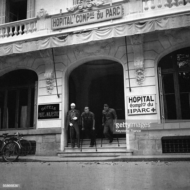 Hôpital à Vichy France en août 1945