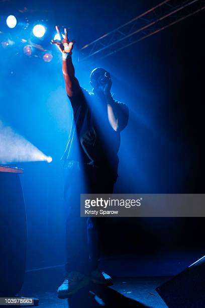 HPrizm of Antipop Consortium performs onstage during the Jazz a la Villette at Le Point Ephemere on September 10, 2010 in Paris, France.