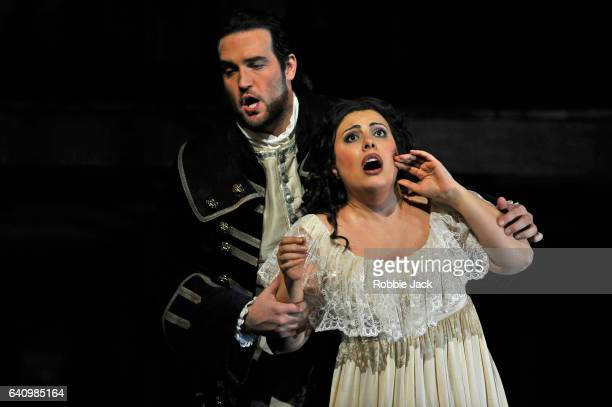 Hrachuhi Bassenz as Adriana Lecouvreur and Brian Jagde as Maurizio in the Royal Opera's production of Francesco Cilea's Adriana Lecouvreur directed...