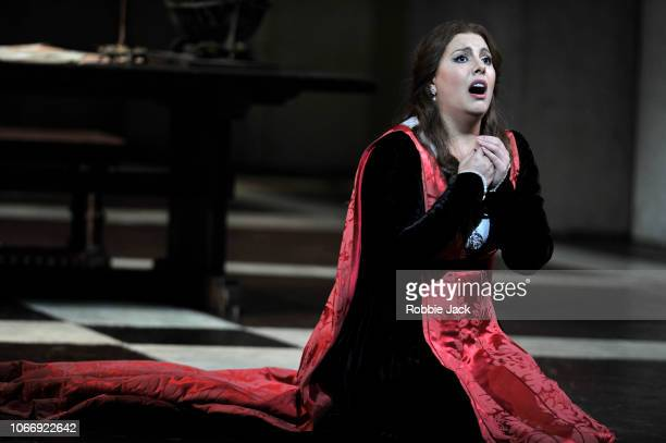 Hrachuhi Bassenz as Amelia Grimaldi in Giuseppe Verdi's Simon Boccanegra directed by Elijah Moshinsky and conducted by Henrik Nanasi at The Royal...