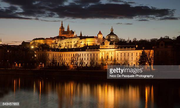 hradcany castel prague - hradcany castle stock pictures, royalty-free photos & images