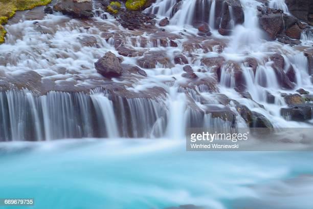 Hraunfossar, cascade in Iceland