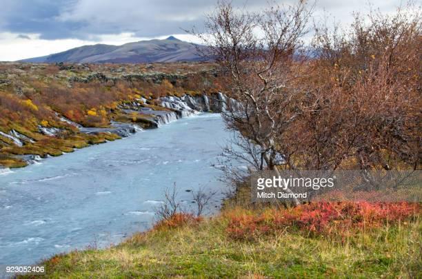Hraunfossar  Falls  Area in the Autumn