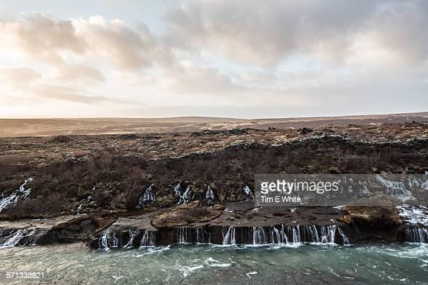 Hraunfossar waterfall, Husafell, Iceland