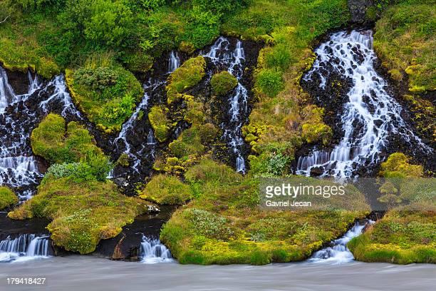 Hraunfossar waterfall in Western Iceland