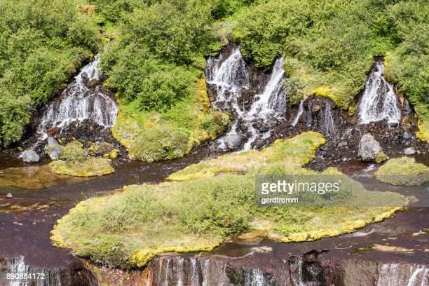 Hraunfossar waterfalls, Vesturland, Iceland