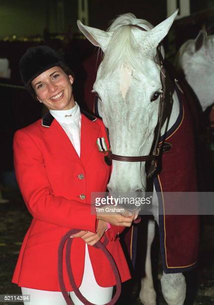 Hrh Princess Haya Bint Al Hussein, Daughter Of The Late King Hussein Of Jordan With Her Horse 'cera' At The International Showjumping Championships...