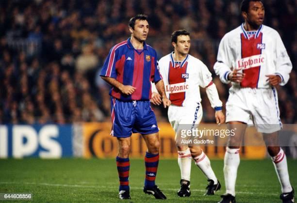 Hristo STOICHKOV / Alain ROCHE / Antoine KOMBOUARE Barcelone / PSG Champions League Photo Alain Gadoffre / Icon Sport