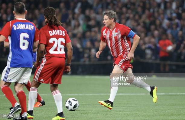Hristo Stoitchkov of FIFA 98 in action during the Friendly match between France 98 and FIFA 98 at U Arena on June 12 2018 in Nanterre near Paris...