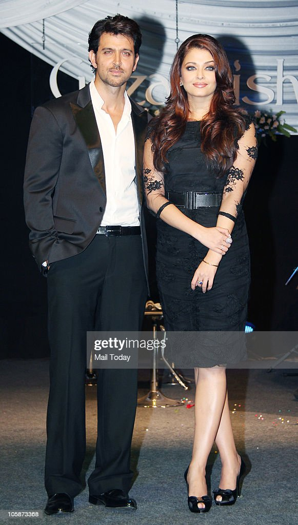 Hrithik Roshan and Aishwarya Rai Bachchan at the music launch of the film �Guzaarish� in Mumbai on October 20 2010