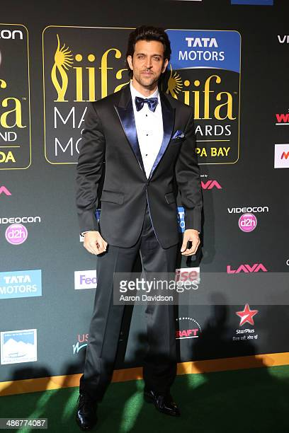 Hrithik Roshan arrives to the IIFA Magic of the Movies at MIDFLORIDA Credit Union Amphitheatre on April 25 2014 in Tampa Florida
