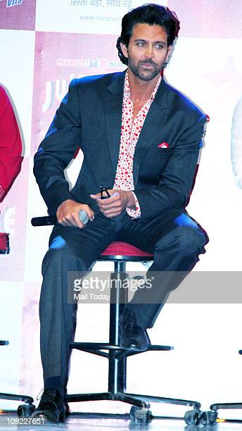 Hrithik Roshan at the launch of TV show 'Just Dance' at Filmistan studios Goregaon on February 16 2011