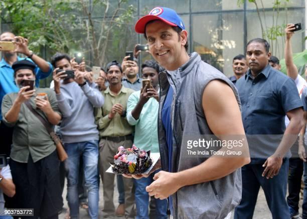 Hrithik Roshan celebrates his birthday with media in Mumbai