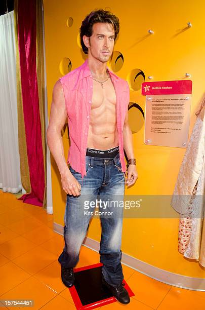 Hrithik Roshan wax figure is unveiled during the launch of the traveling Bollywood Exhibit at Madame Tussauds on December 4 2012 in Washington DC