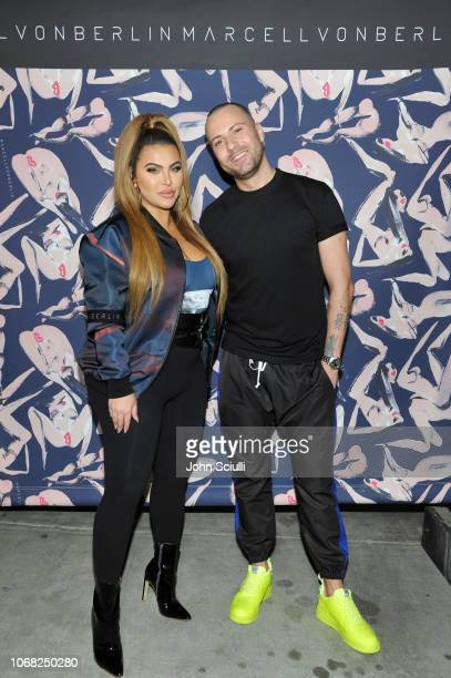 Hrush Achemyan and Marcell von Berlin attend the MARCELL VON BERLIN LA Store Launch at MARCELL VON BERLIN Flagship Store on November 15 2018 in Los...