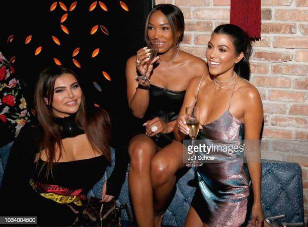 Hrush Achemyan Malika Haqq and Kourtney Kardashian attend the TAO Chicago Grand Opening Celebration at TAO Chicago on September 15 2018 in Chicago...