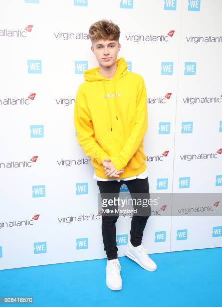 Hrvy attends 'We Day UK' at Wembley Arena on March 7 2018 in London England