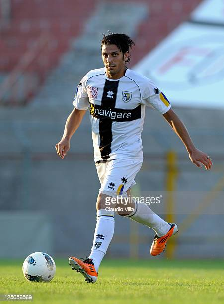 HSergio Floccari of Parma FC during the friendly match between Mantova and Parma FC at Danilo Martelli Stadium on September 15 2011 in Mantova Italy