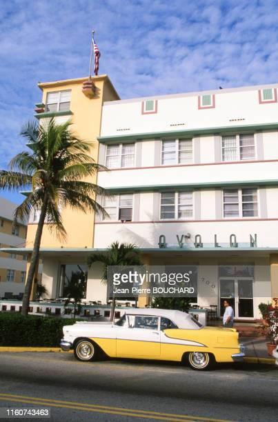 Hôtel Avalon dans le quartier Art Déco de Miami Beach en Floride Etats Unis.