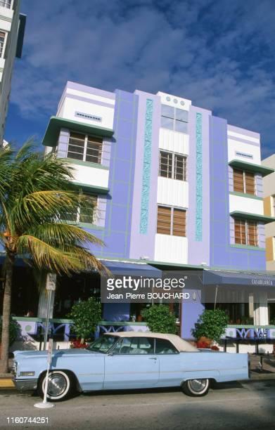 Hôtel Casablanca du quartier Art Déco de Miami Beach en Floride Etats Unis.