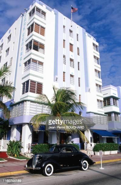 Hôtel Central Park dans le quartier Art Déco de Miami Beach en Floride aux Etats Unis.